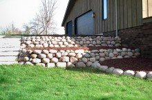 Fieldstone Walls with Steps