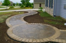 Curvy Walkway with Circular Patio