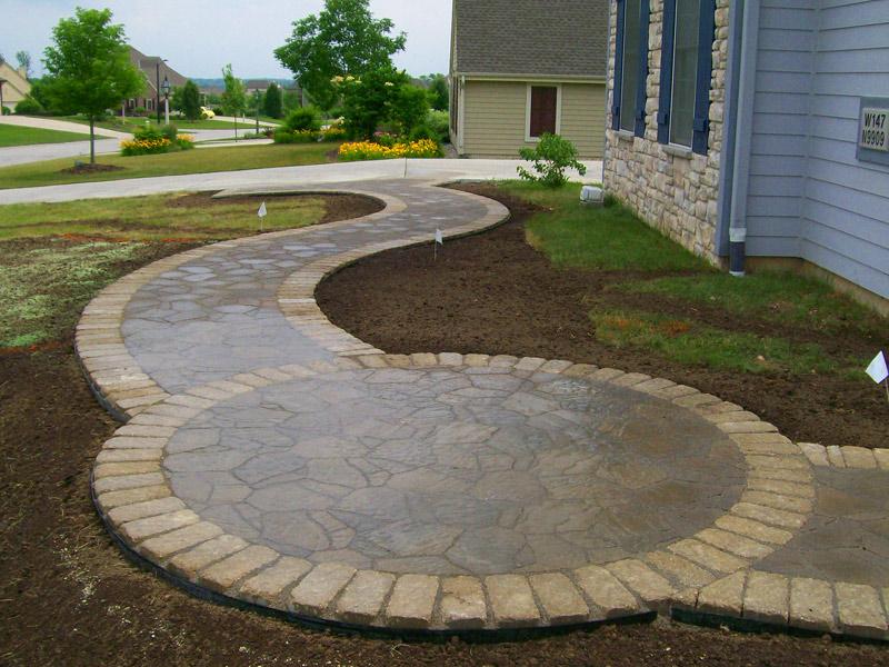 Walkways   Wirth Services Inc. - Germantown Wisconsin ... on Circular Patio Ideas id=67468