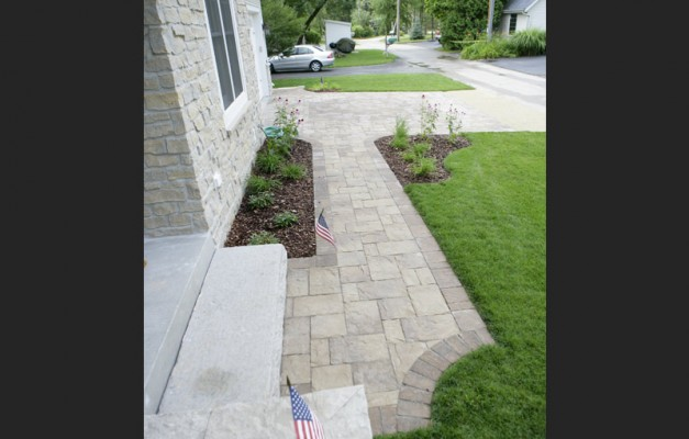 Walkway with Matching Driveway