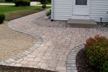 Brittany Beige with Bluestone Border